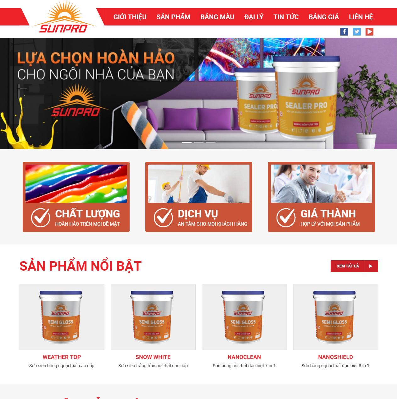 Thiết kế website công ty cơ bản