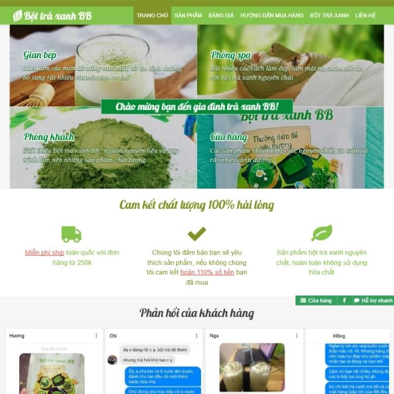 Trang trại trà xanh Quảng Ngãi