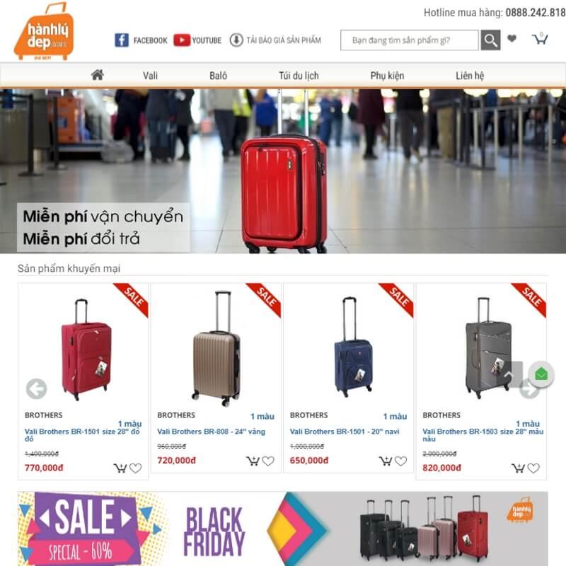 Chuỗi cửa hàng du lịch Hành lý đẹp
